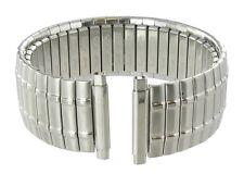 18-22mm Speidel Twist-O-Flex Stainless Silver Tone Metal Watch Band 1393/03 Long