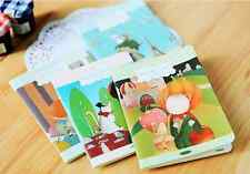 Cute Floating Town Colorful Diary Blank Lines Notebook Portable Memo Kids Gift