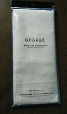 GEORGE 2-packages =12  MEN'S FINE HANDKERCHIEFS 100% COTTON NEW for Gifts