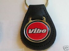 Pontiac Vibe Leather Keychain, Key Fob, Made in the USA