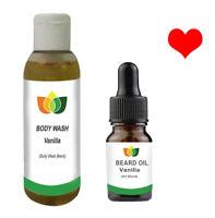 Beard Oil & Beard Wash French Vanilla (Twin pack) Valentine gift 10ml 100ml