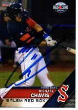 Michael Chavis 2017 Salem Red Sox Autographed Signed Card