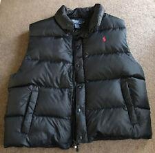 Men's Polo Ralph Lauren Black Puffer Vest Size XL Fits Large EUC Sport