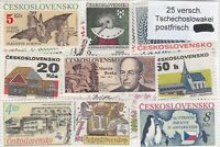 TCHECOSLOVAQUIE 25 TIMBRES TOUS DIFFERENTS NEUF**