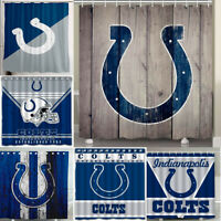 """Indianapolis Colts 72"""" x72"""" Waterproof Fabric Shower Curtain Bathroom Decor"""