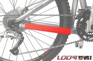 Mountain Bike Chain Protector Frame Guard, Red Carbon Zoom Sport