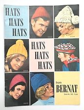 VINTAGE 1969 30 Hats to Knit and Crochet from Bernat #165 60s Patterns Fashions