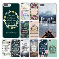 Bible Verse For iPhone Case Jesus Christ Christian Phone Cover Flowers Floral