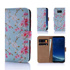 32nd Floral Series - Design PU Leather Book Wallet Case Cover for Samsung Galax