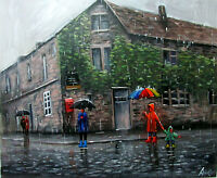 100%Hand-painted Oil Painting Impression Scenery art16*20inch Decoration canvas