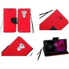 Étuis, housses et coques etuis portefeuilles rouge pour téléphone mobile et assistant personnel (PDA) LG
