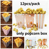 Rose Gold Popcorn Boxes Kids Party Treat Boxes Wedding Decor Movie Supplies