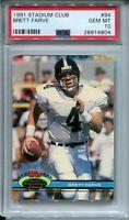 1991 91 Stadium Club Football #94 Brett Favre Rookie Card RC PSA 10 Gem Mint