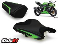 Kawasaki ZX6R Seat Cover 2013-2017 2018 Sport Luimoto Front Rear Green Black