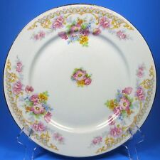 Warwick 9900 Salad Plate (s) Floral Sprays Pink & Gold Flowers Made in USA