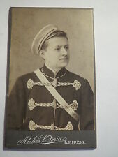 Leipzig - Chemnitz - 1904 - Student mit Kneipjacke in Couleur - CDV / Studentika