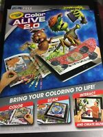 CRAYOLA ZOMBIES COLOR ALIVE 2.0 INTERACTIVE COLORING BOOK HALLOWEEN CHILD KIDS
