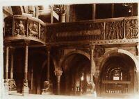 Italia Modena Cattedrale Interno, Foto Stereo Placca Lente Ca 1910