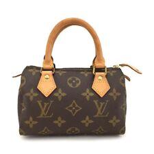 100% Authentic Louis Vuitton Monogram Mini Speedy Hand bag /11279