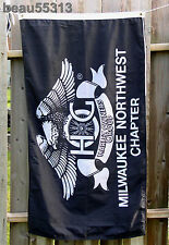 HARLEY DAVIDSON HOG MILWAUKEE NORTHWEST CHAPTER 2000 HOME RUN FLAG BANNER NEW