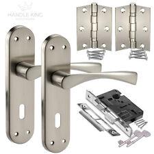New Internal Satin Door Handle on Plate Lock Pack, Handles,Sash Lock & Hinges