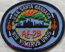 PUS484 - US NAVY USS SANTA BARBARA AE-28 PATCH