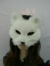 Qihu's Cute White Fox Fur Stuffed Animals Plush Mask for Kids Girls Gift Party