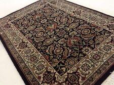"2'.0"" X 3'.0"" Black Ivory Super Herati Persian Oriental Area Wool Rug Handmade"