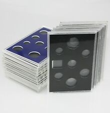 16 x ROYAL MINT Empty Proof Coin Set Perspex/Plastic Coin Case Holders + Inserts