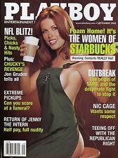 Playboy Magazine September 2003 Women Of Starbucks / Nicholas Cage Respect