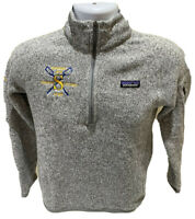 Patagonia Womens Better Sweater 1/4 Zip Birch Gray Pullover Sz M Simmons College