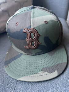 Boston Red Sox Hat, Camo Boston Red Sox, Fitted Boston Red Sox Hat