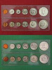 1976 P D Mint Set In Snap Tight Display Cases Uncirculated Flat Rate Shipping