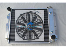 "Aluminum radiator for 1987-2002 Jeep Wrangler YJ TJ Chevy V8 3ROW + 14"" Fan"
