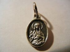 """Immaculate Heart of Mary mini 1/2"""" oval medal New! Made in Italy """"Pray for Us"""""""