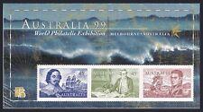 Australia 1727-1728 sheets,MNH. Early navigators:Tasman,Cook,Finders,Parker King