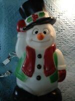 "VINTAGE 1999 CHRISTMAS EMPIRE 18"" SNOWMAN BLOW MOLD W/LIGHT CORD"