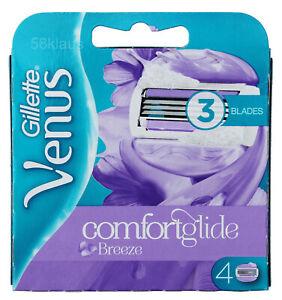 4 Gillette Venus Comfortglide Breeze Rasierklingen Klingen Frauen Damen Women