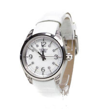 Aviator Mother Of Pearl Crystal Dial White Leather Watch AVW9010L66