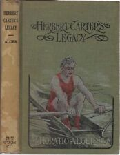 1908 Vtg Herbert Carter's Legacy Horatio Alger Rower Rowing Athlete Cover Art