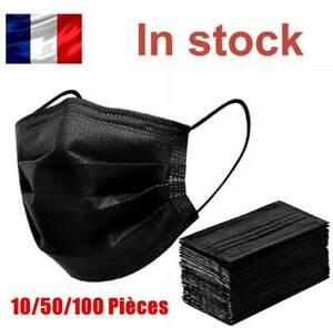 Masque de protection noir 200 PCS, Anti-buée, livraison gratuite en Stock FR
