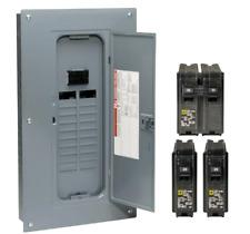 Square D 100 Amp 20 Space 40 Circuit Indoor Main Breaker Load Center Panel Box
