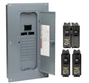 Square D 100 Amp 20-Space 40-Circuit Indoor Main Breaker Load Center Panel Box
