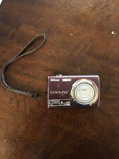 Nikon Coolpix S220 10MP Digital Camera 3x Optical Zoom 2.5 inch LCD Plum
