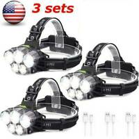 160000LM 5X T6 LED Rechargeable Headlight Headlamp 18650 Flashlight Head Torch^^