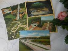 VTG 5 Linen PA Turnpike Postcards Tunnels Highway Aerial View Travel Blue Mtn