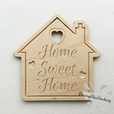 **HOME** Carved Wooden Craft Shape - Home Sweet Home House.