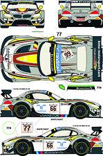1/24 Decal BMW Z4 GT3 #66/77 Total 24h de Spa 2014 - Marc VDS Racing pour Fujimi
