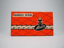 Vintage Master Addresser Address Spool in Original Box for Display New Old Stock