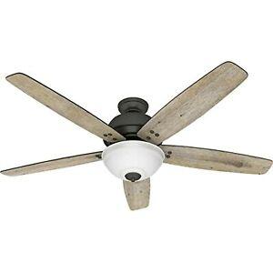 Hunter Reveille 60 in. LED Indoor Noble Bronze Ceiling Fan